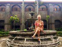 Posing in the San Augustin courtyard