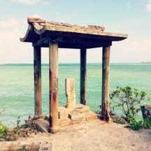 Adorable shrine at Ishikawa Beach