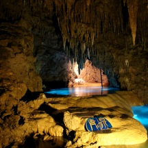 Beautiful lagoon in the caves