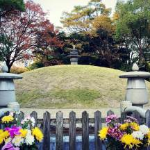 Atomic Bomb Memorial Mound, under which the ashes of 70,000 unidentified victims are buried. Supposedly the hypocenter of the explosion.