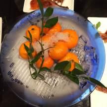 Mandarin oranges for dessert!
