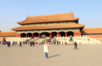 The gate to one of the many layers of the Forbidden City