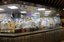 Chefs hard at work at the VERY busy Din Tai Fung