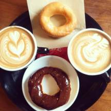 Peace lattes and donuts :)