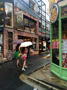 Strolling quaint back roads in Harajuku