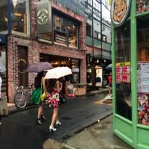 Strolling quaint back roads in Harajuku
