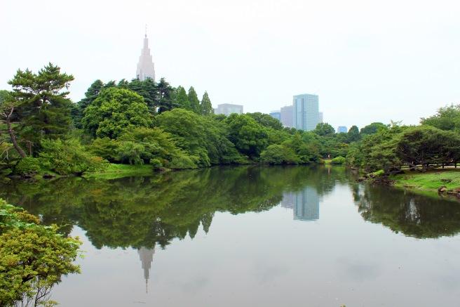 Tokyo reflections at Shinjuku Gardens