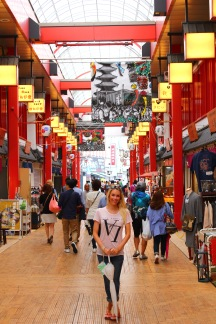 "Shops in Asakusa, ""old-timey"" Tokyo"