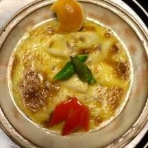 Scallops in creamy cheesy gratin goodness!