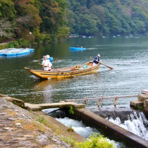 Boaters in Arashiyama