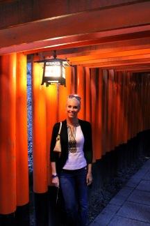 Walking through the torii's