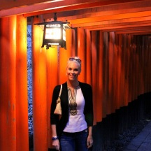 Walking through the torii's