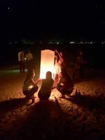 We didn't get a photo with our lantern, so I took photos of strangers with theirs