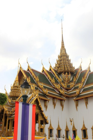The Grand Palace and the Thai flag