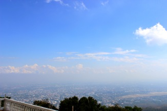 The view of Chiang Mai from the mountain