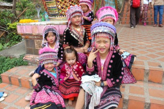 Hmong children from a nearby village