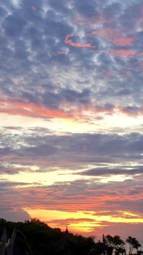 Pink and violet skies
