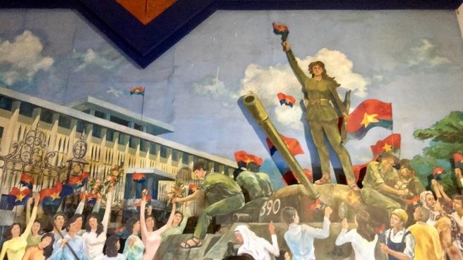 Wall mural at Ho Chi Minh City Museum
