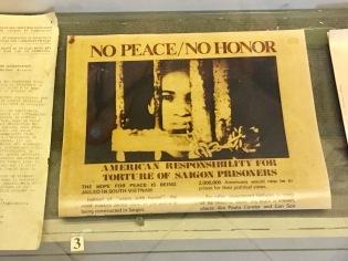 Anti-American press samples at the museum