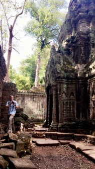 Chuck doing his photography thing at Ta Prohm