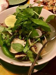 Lemongrass chili clam soup