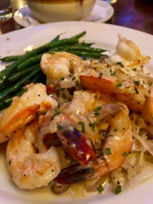 Shrimp pasta with haricots vests - my dish!