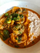 Shrimp n' Grits at Coquette